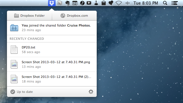 Stream Video from Mac to iPad - Start Dropbox