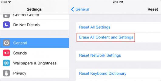 How to Sync iPhone to iPad with iCloud- Erase All Contents on iPad