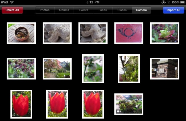 Transfer Pictures from Camera to iPad using iPad Camera Connection Kit - Import Pictures