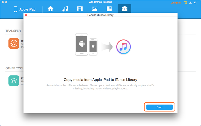 Best iPad File Explorer for Mac - Rebuild iTunes Library