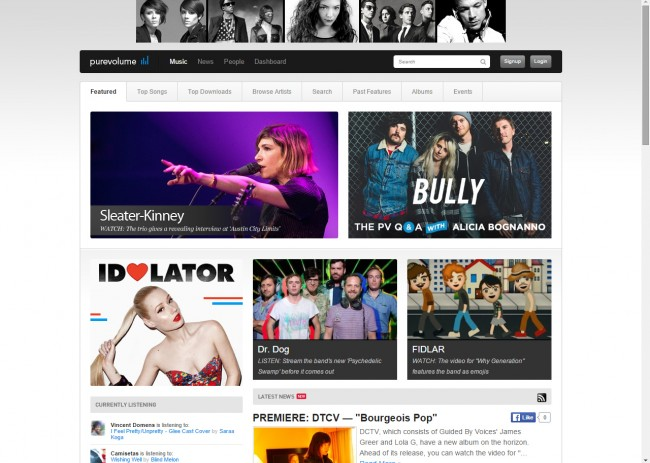Download Music from Purevolume to PC - Visit the Website