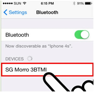 Connect Bluetooth to iPhone - Search Devices