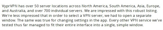 Tips for VPN connection on iPhone-review praised VYPR VPN 5 stars
