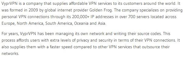 Tips for VPN connection on iPhone-review praised VYPR VPN
