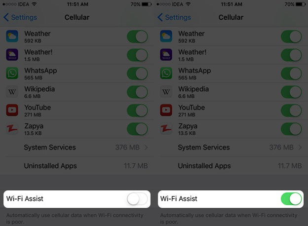 iPhone Won't Connect to Wi-Fi - Turn on Wi-Fi Assist