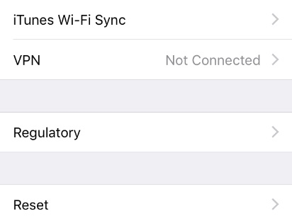 iPhone Won't Connect to Internet - Tap Reset
