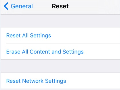 iPhone Won't Connect to Internet - Reset Network Settings