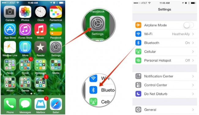 connect iPhone to Mac - Use Bluetooth step 1