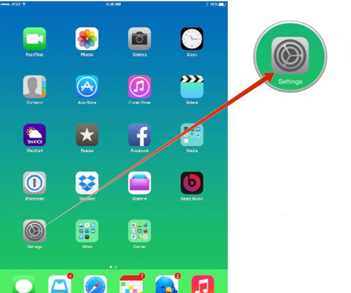 tether an ipad to an iphone-ipad setting