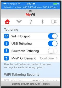 tether an ipad to an iphone-MyWi