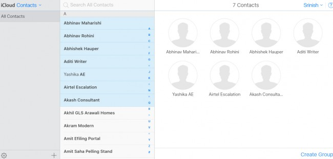 copy contacts from iPhone to PC - Select the contacts