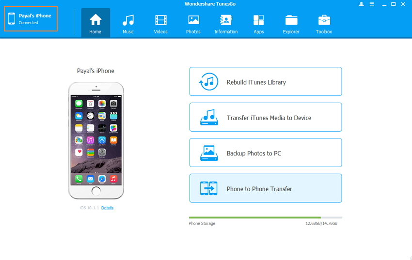 sync iPhone contacts to Outlook with TunesGo