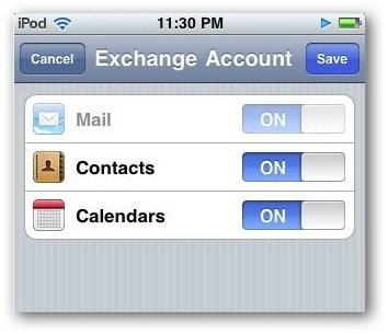 Sync iPhone Contacts - Toggle Contacts On