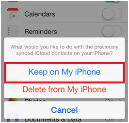 Sync iPhone Contacts - Keep on My iPhone