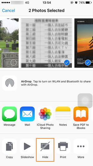 How to Manually Hide Photos on iPhone