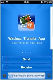 transfer photos from computer to iPhone without itune-download this app