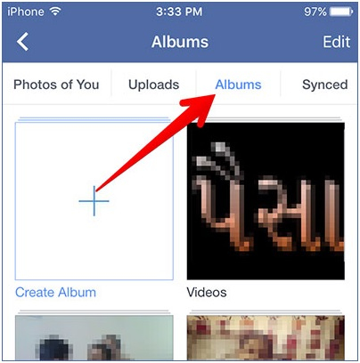 transfer photos from computer to iPhone without itune-tap albums