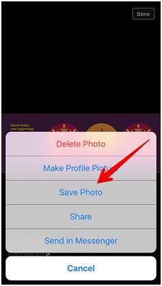 transfer photos from computer to iPhone without itune-long press the photo and save