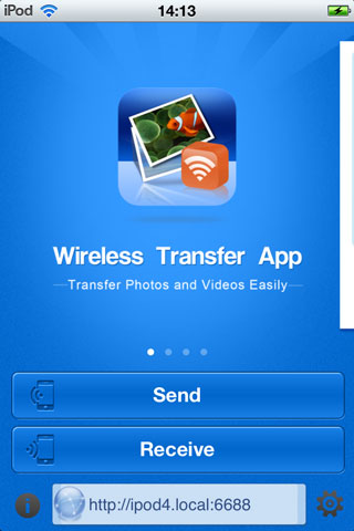Transfer Photos from iPad to iPhone - using mobile app step 1