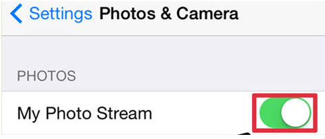 transfer photos from iphone to mac - Using Photo Stream step 1