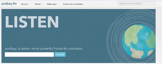 Download podcasts zonder iTunes - bezoek Podbay