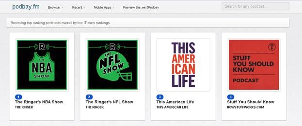 Download Podcasts zonder iTunes - kies een categorie