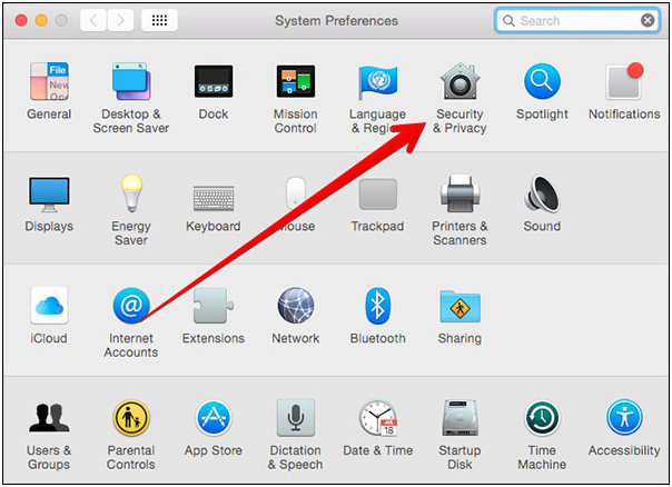 AirDrop iPhone to Mac - Go to System Preferences