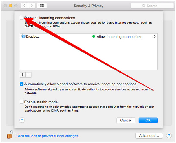 AirDrop iPhone to Mac - Uncheck the box