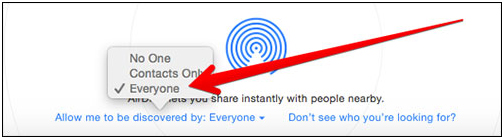 AirDrop iPhone to Mac - primary sharing option