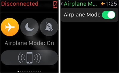 AirDrop iPhone to Mac - Disable the Airplane mode