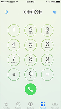 How to Find IMEI on iPhone - Dial *#06#