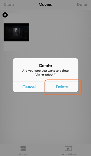 Delete Videos from iPhone - Delete Videos