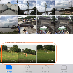 E-mail iPhone video's - Kies de Camera Roll