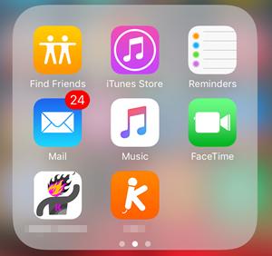 Gerir música no iPhone - Abrir aplicação de música