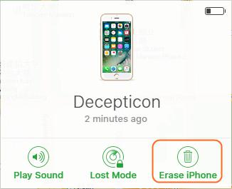 Desbloquear iPhone sem computador - Limpe todos os dados no iPhone