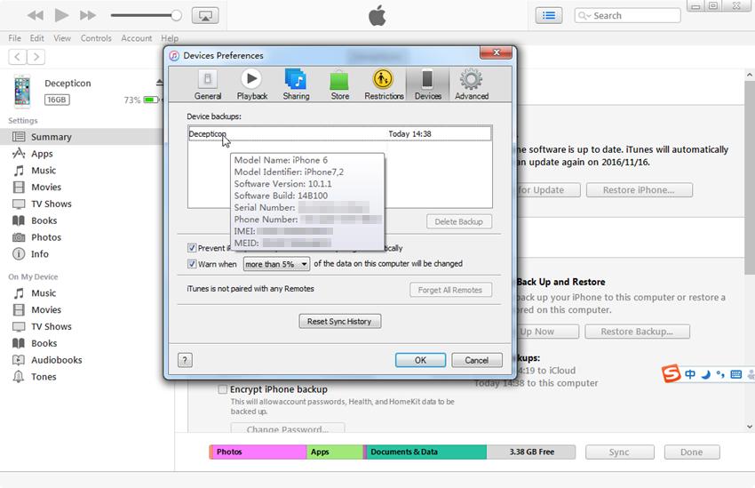 Como encontrar IMEI no iPhone - Encontre IMEI no iTunes