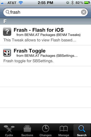 Download Flash Player voor iPhone - Frash