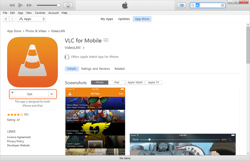 Tips voor VLC voor iPhone - Download VLC voor iPhone naar je computer