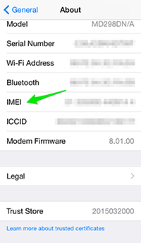 Como encontrar IMEI no iPhone - Encontre IMEI