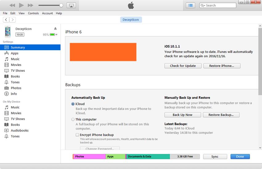 Editar lista de reprodução do iPhone - ícone do iPhone clique