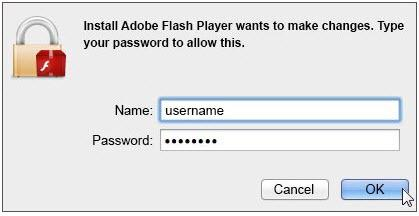 Download Flash Player on iPhone - Enter Username