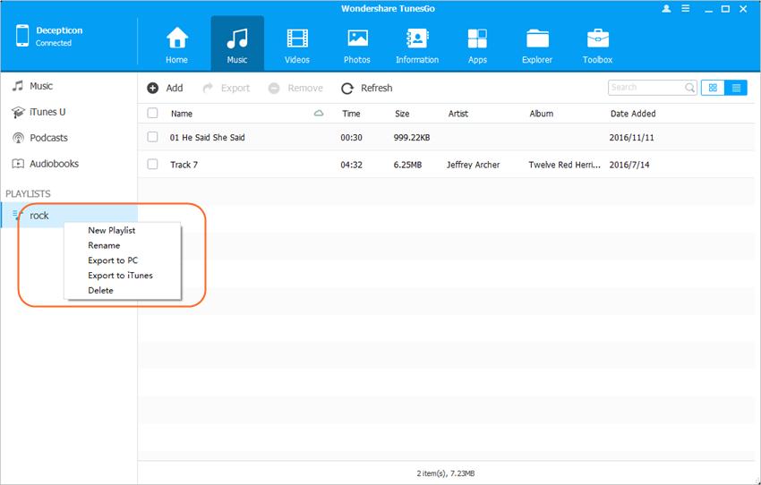 Editar lista de reprodução do iPhone - Editar lista de reprodução