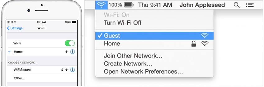 Hoe kun je AirDrop gebruiken tussen Mac en iPhone - Zet WiFi aan op iPhone en Mac.