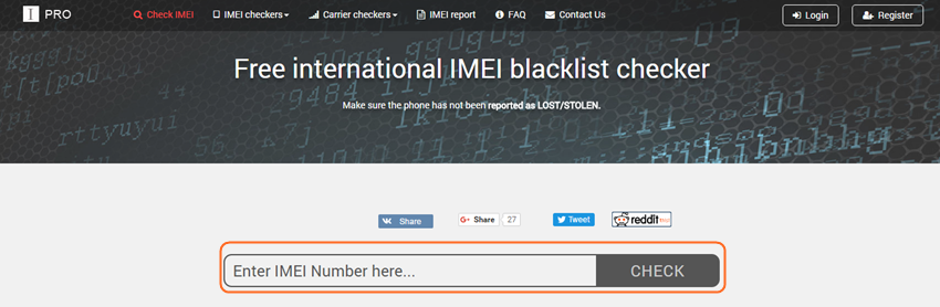 How to Find IMEI on iPhone - Go to Website