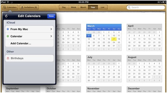 Sync iPhone Calendar - Finish syncing iPhone calendars with iPad