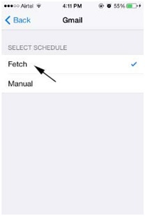 Sync iPhone Calendar - Tap Fetch