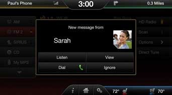 Ford sync iPhone - step 1 of Receiving iPhone Text Messages with Ford Sync