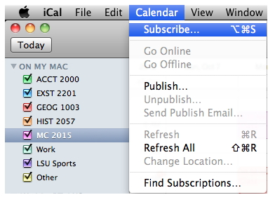 sync iCal with iphone - step 1 for Sync iCal to other iCal users