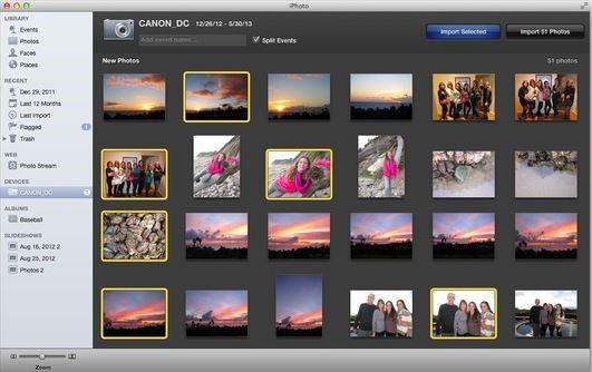Transfer iPhone Photos to flash drive - using iPhoto step 2
