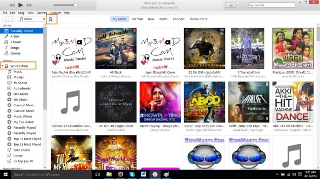 How to delete photos form ipod-open itunes and connect ipod